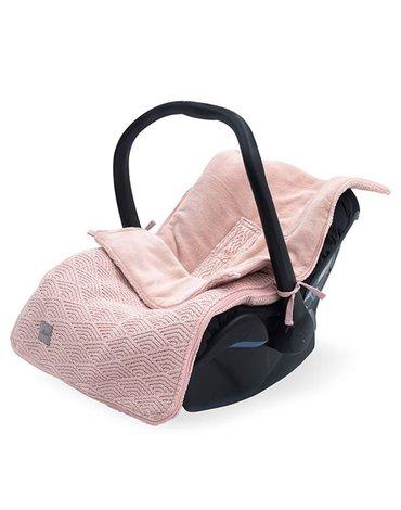 Jollein - Baby & Kids - Jollein - Śpiworek oddychający do wózka i fotelika River Knit PALE PINK
