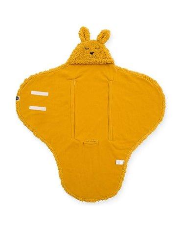Jollein - Baby & Kids - Jollein - Śpiworek otulacz do fotelika i wózka Bunny MUSTARD