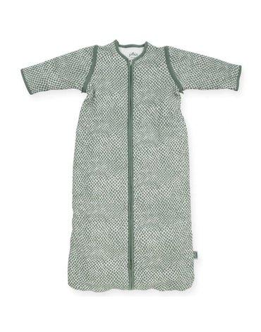 Jollein - Baby & Kids - Jollein - Śpiworek niemowlęcy całoroczny 4 pory roku z odpinanymi rękawami Snake ASH GREEN 110 cm