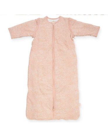 Jollein - Baby & Kids - Jollein - Śpiworek niemowlęcy całoroczny 4 pory roku z odpinanymi rękawami Snake PALE PINK 90 cm