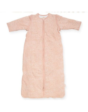 Jollein - Baby & Kids - Jollein - Śpiworek niemowlęcy całoroczny 4 pory roku z odpinanymi rękawami Snake PALE PINK 70 cm