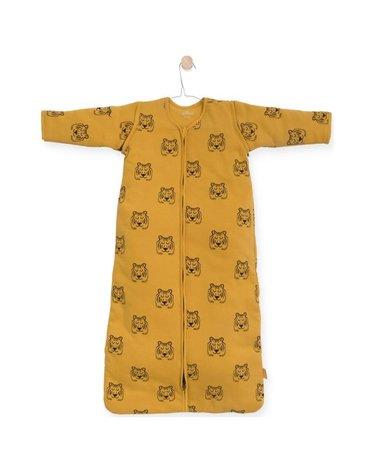 Jollein - Baby & Kids - Jollein - Śpiworek niemowlęcy całoroczny 4 pory roku z odpinanymi rękawami Tiger MUSTARD 90 cm