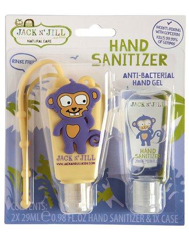 Jack N'Jill, Żel do dezynfekcji rąk, Monkey, 2 x 29ml KARTON, 6 sztuk