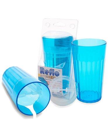 Reflo - Kubek treningowy logopedyczny niebieski