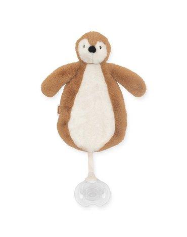 Jollein - Baby & Kids - Jollein - Przytulanka dou dou z zawieszką na smoczek Pingwin CARAMEL