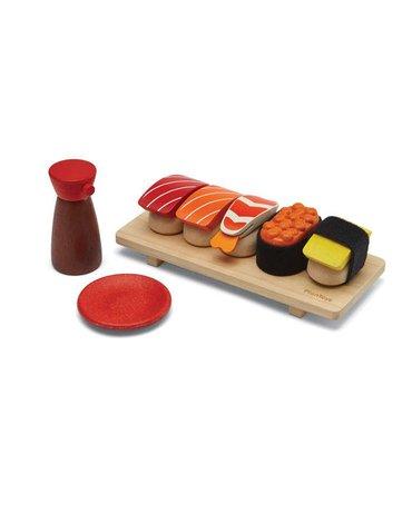 Śniadanie na talerzu, drewniany zestaw do zabawy, Plan Toys®