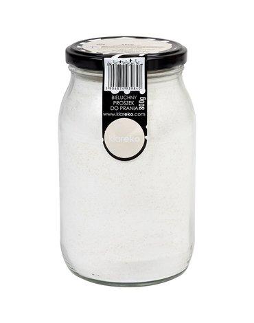 Klareko, Bieluchny Proszek Do Prania, Bezzapachowy, słoik 800 g