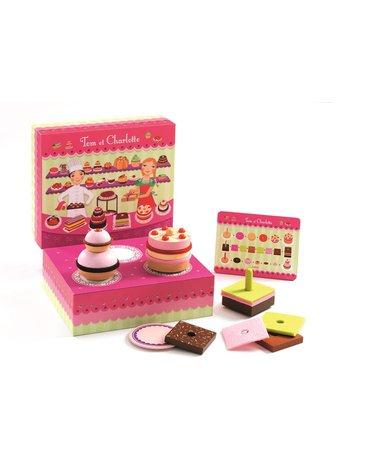 Djeco - Drewniany zestaw do przygotowania tortów DJ06610