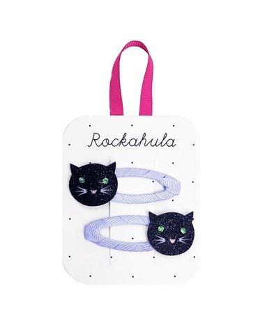Rockahula Kids - spinki do włosów Lucky Black Cat Clips Halloween