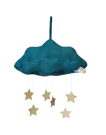 Picca LouLou - Zawieszka mobile Sparkle Cloud BLUE with Stars 34 cm