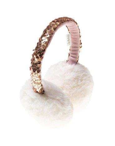 Rockahula Kids - nauszniki Shimmer Sequin Rose Gold