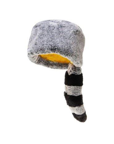 Rockahula Kids - czapka zimowa futerko z ogonem Ronnie Racoon Furry 3 - 6 lat