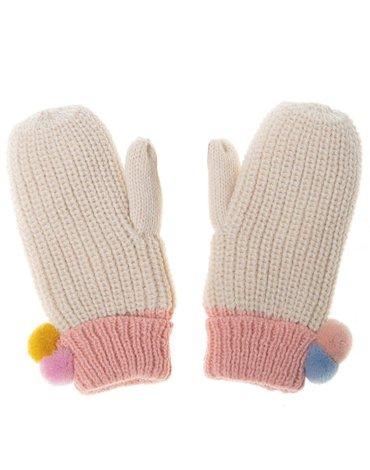 Rockahula Kids - rękawiczki zimowe Dreamy Rainbow Knit Bobble 7 - 10 lat