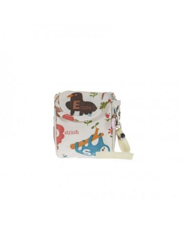 My Bag's Torebka na smoczek Animals Cream
