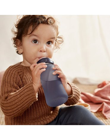 Szklana butelka reagująca na temperaturę 240 ml, borówkowa, Everyday Baby
