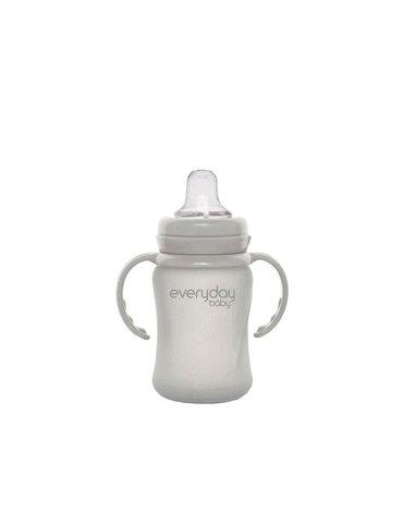 Szklany niekapek 150 ml, szary, Everyday Baby