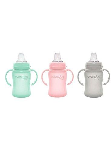 Szklany niekapek 150 ml, różowy, Everyday Baby