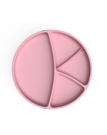 Talerzyk czterodzielny z przyssawką, różowy, Everyday Baby