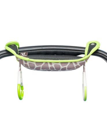 BenBat - Nakładka na rączkę fotelika samochodoweg o - Gray/Green