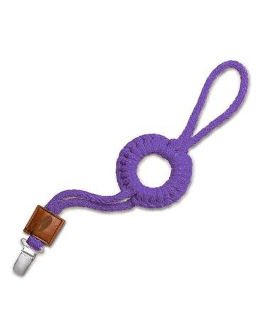 Hi Little One - sznurkowa zawieszka z kółkiem do smoczka Pacifier holder with RING Purple