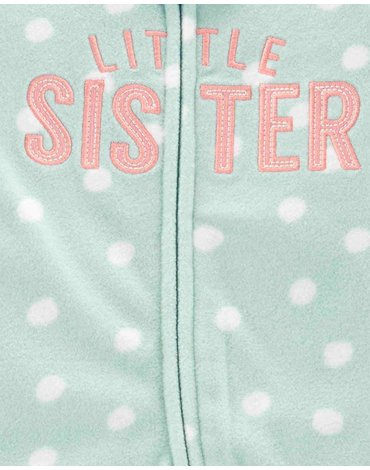 Carter's - Pajac polarowy Little Sister - 62 cm
