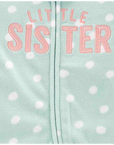 Carter's - Pajac polarowy Little Sister - 68 cm