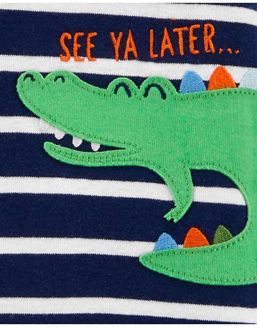Carter's - Pajac-piżama Aligator - 76 cm