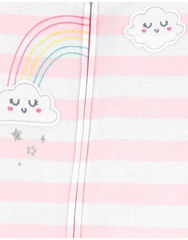 Carter's - Pajac piżama tęcza - 80 cm