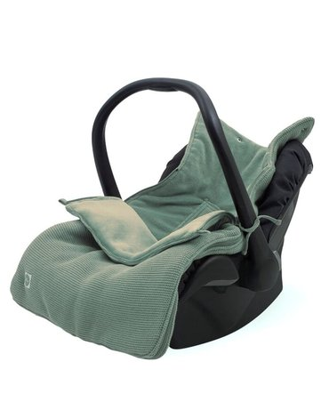 Jollein - Baby & Kids - Jollein - Śpiworek oddychający do wózka i fotelika Basic Knit ASH GREEN