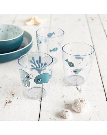 Done by Deer Sea Kubki Mini Glass Blue