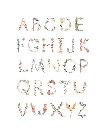 Mushie - Plakat Alphabet Medium