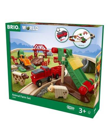 BRIO World Kolejka Drewniana Farma 30el.