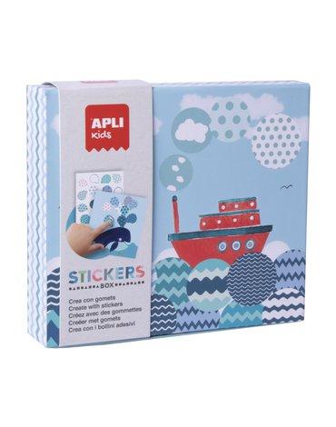 Zestaw z naklejkami Apli Kids - Statek