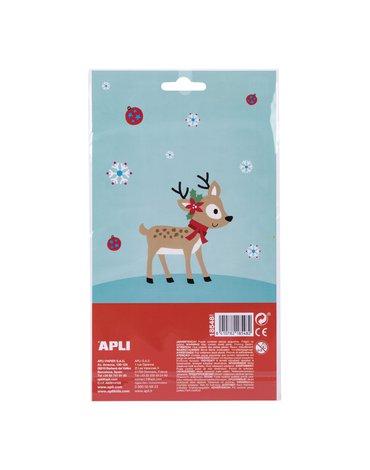 Świąteczne naklejki Apli Kids - Sweter