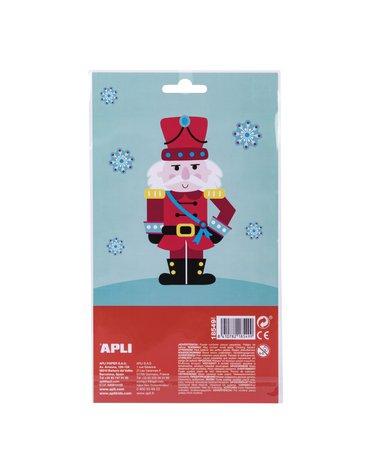 Świąteczne naklejki Apli Kids - Śnieżynki
