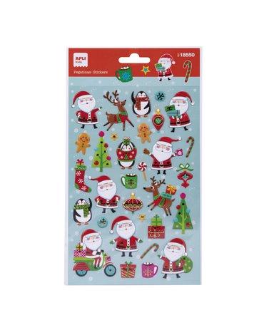 Świąteczne naklejki Apli Kids - Święty Mikołaj