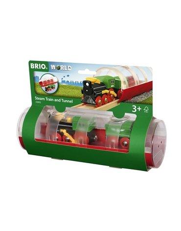 BRIO World Pociąg Parowy z Tunelem