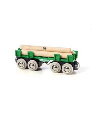 BRIO World Wagon z Drewnem