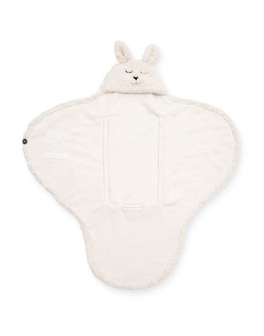 Jollein - Baby & Kids - Jollein - Śpiworek otulacz do fotelika i wózka Bunny OFF WHITE