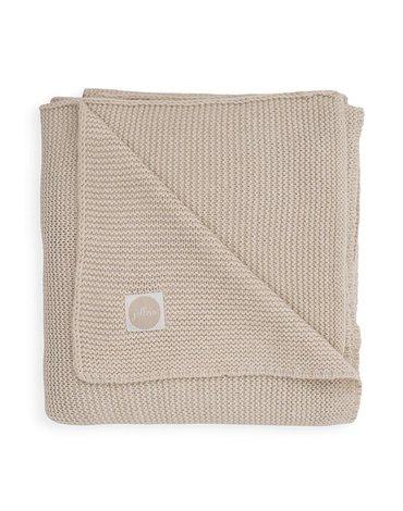 Jollein - Baby & Kids - Jollein - Kocyk tkany 75 x 100 cm Basic Knit TOG 1.0 NOUGAT