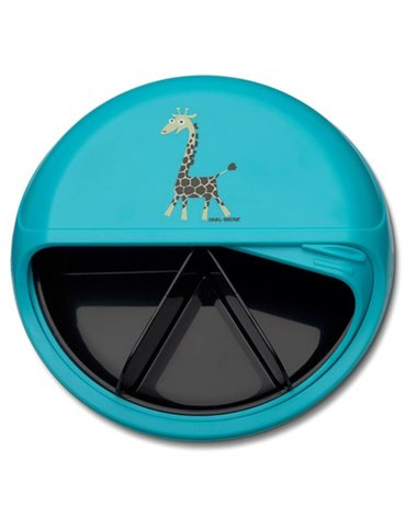 Carl Oscar BIG SnackDISC™ 5 komorowy obrotowy pojemnik na przekąski Tourquise - Giraffe