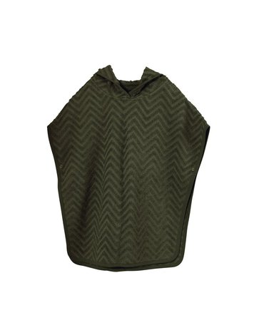 Filibabba Poncho Zigzag Dark Green