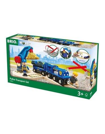 BRIO World Zestaw Policji Transport Złota
