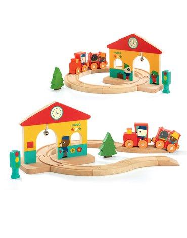 Djeco - Drewniana zabawka mini stacja DJ06389