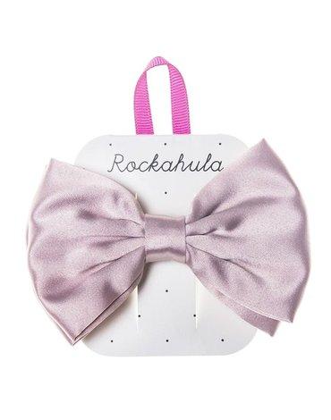 Rockahula Kids - spinka do włosów Satin lux Double bow Pink