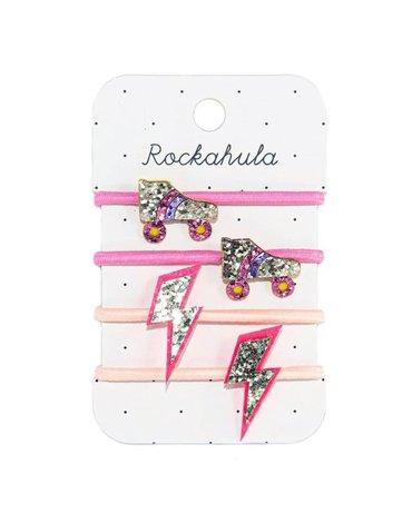 Rockahula Kids - gumki do włosów Roller Disco Glitter