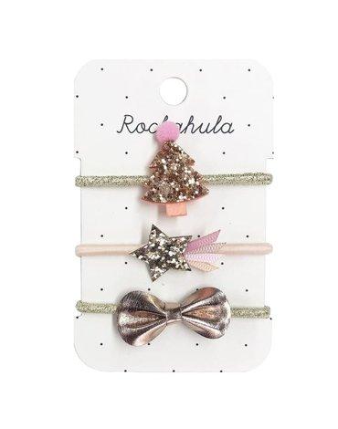 Rockahula Kids - gumki do włosów Rose Gold XMAS TREE