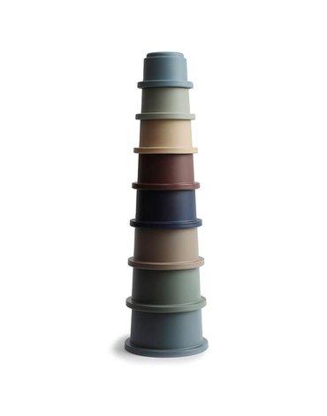 Mushie - Stacking Tower FOREST - wieża z kubeczków
