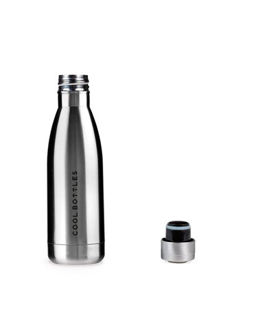 COOLBOTTLES - Cool Bottles Butelka termiczna 350 ml Metallic Silver