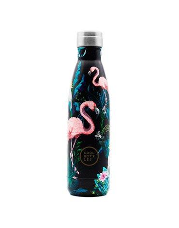 COOLBOTTLES - Cool Bottles Butelka termiczna 500 ml Tropical Flamingo Navy